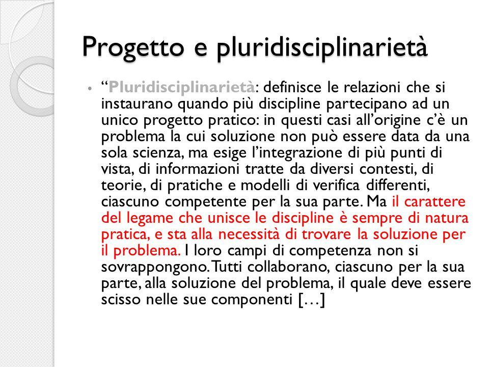 Progetto e pluridisciplinarietà