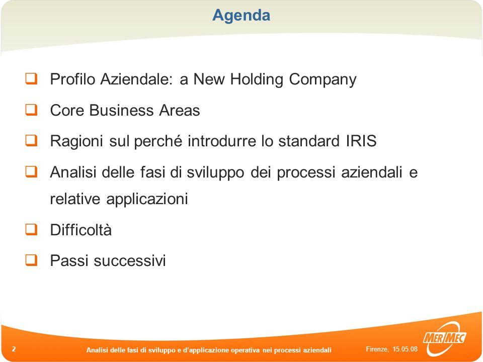 Profilo Aziendale: a New Holding Company Core Business Areas