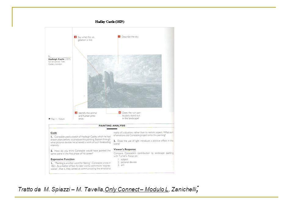 Tratto da M. Spiazzi – M. Tavella,Only Connect – Modulo L, Zanichelli;