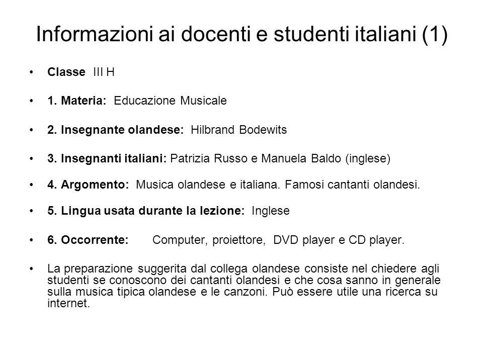 Informazioni ai docenti e studenti italiani (1)