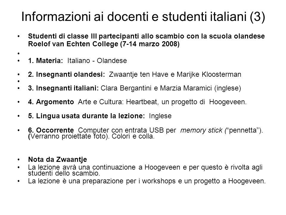 Informazioni ai docenti e studenti italiani (3)