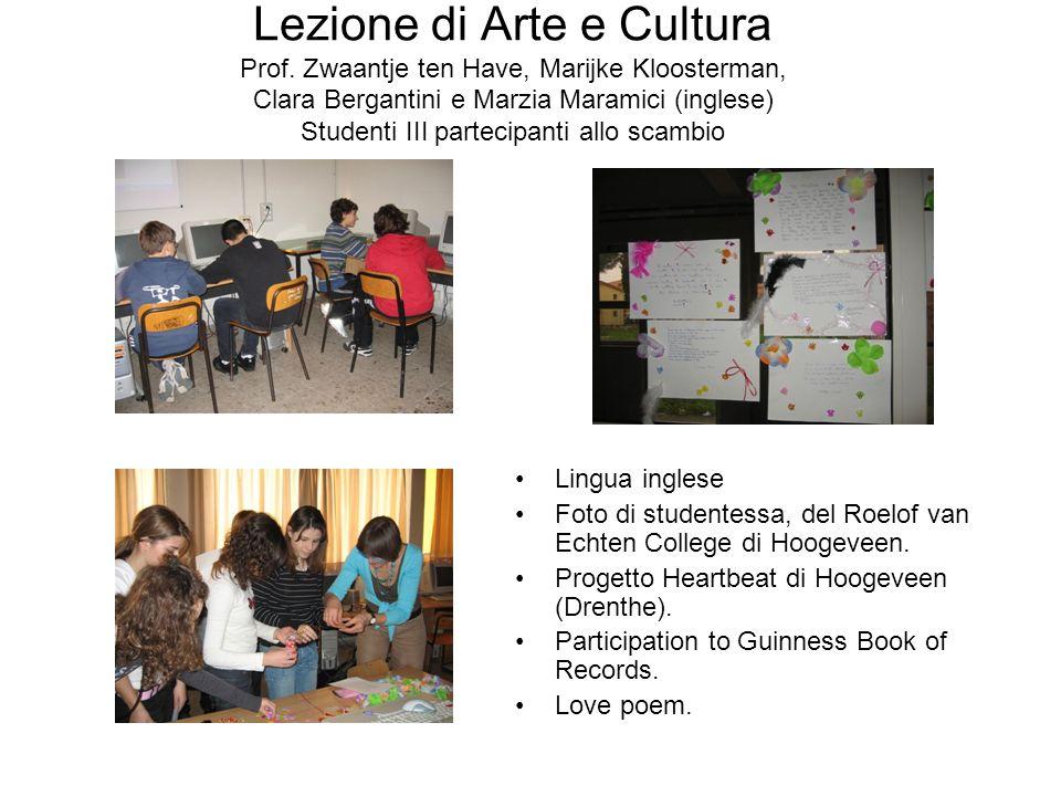 Lezione di Arte e Cultura Prof