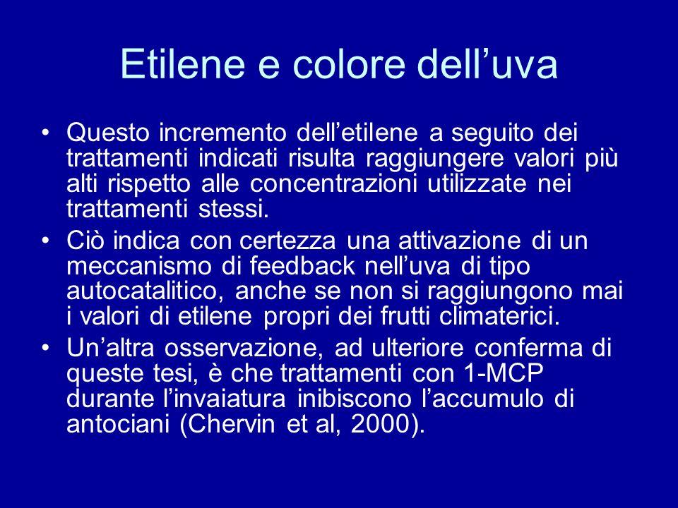 Etilene e colore dell'uva