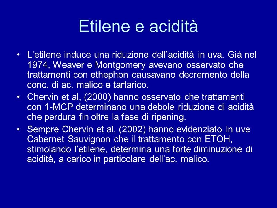 Etilene e acidità