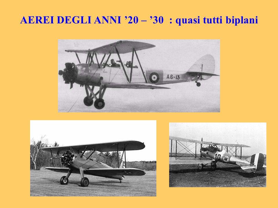 AEREI DEGLI ANNI '20 – '30 : quasi tutti biplani
