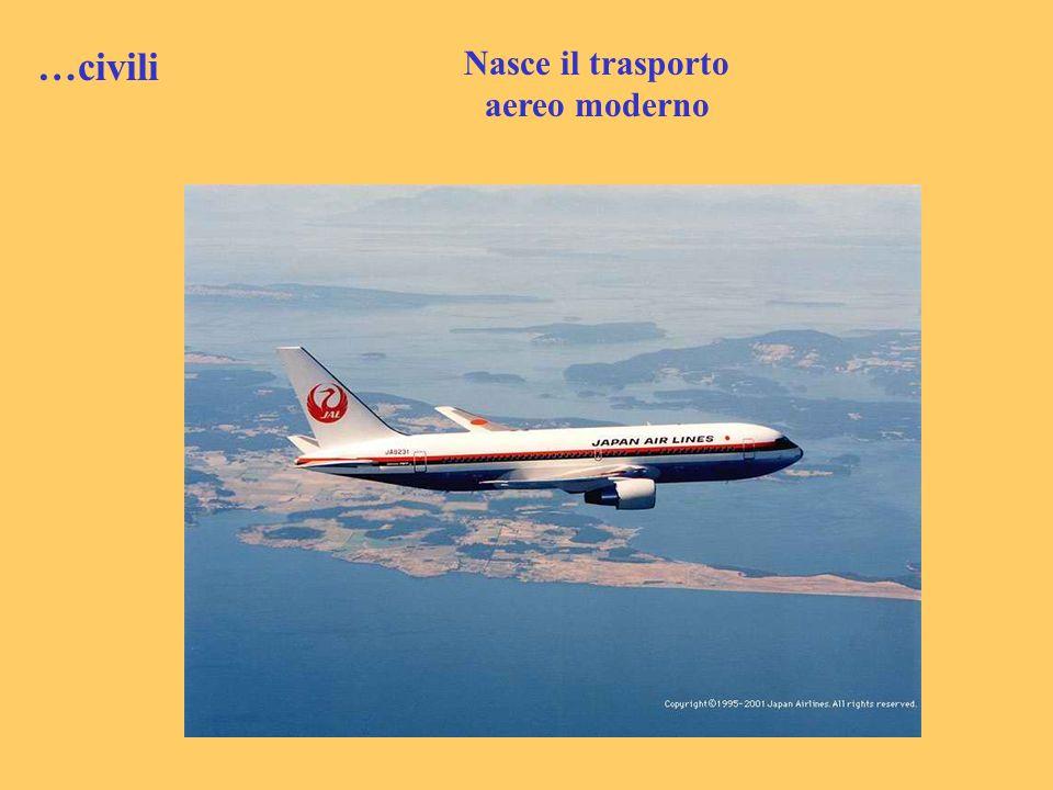Nasce il trasporto aereo moderno