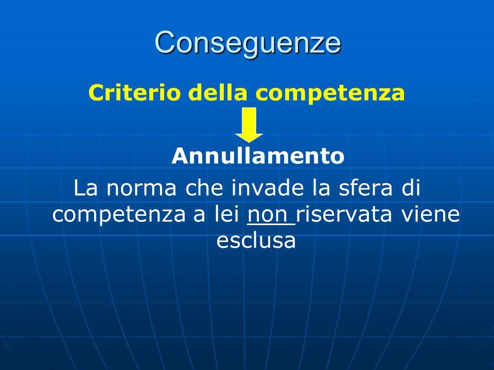 Criterio della competenza
