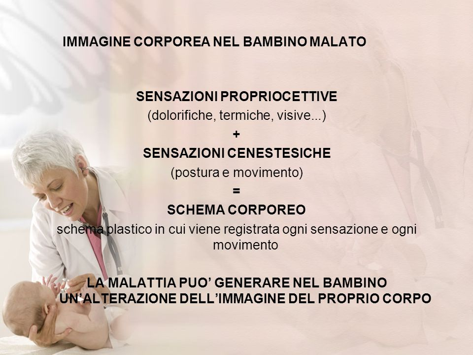 IMMAGINE CORPOREA NEL BAMBINO MALATO