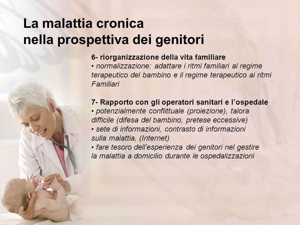 La malattia cronica nella prospettiva dei genitori