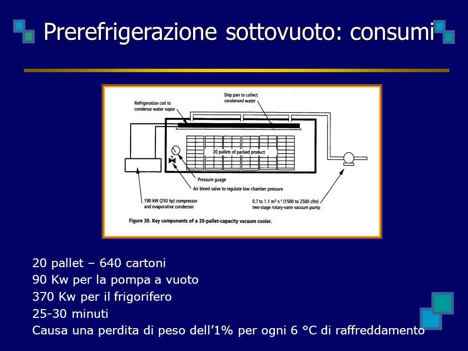 Prerefrigerazione sottovuoto: consumi