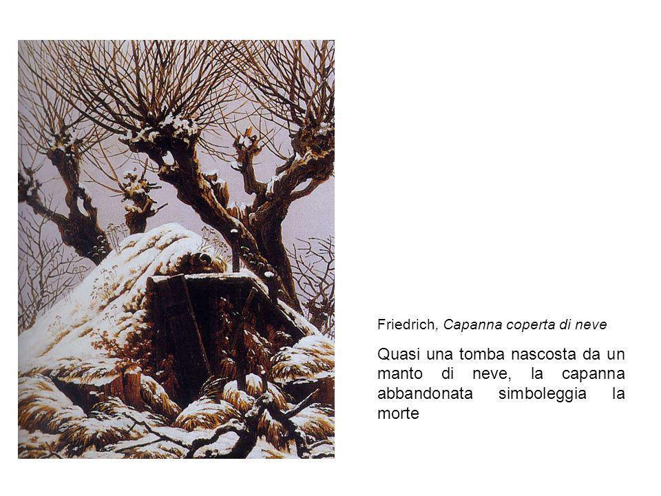 Friedrich, Capanna coperta di neve