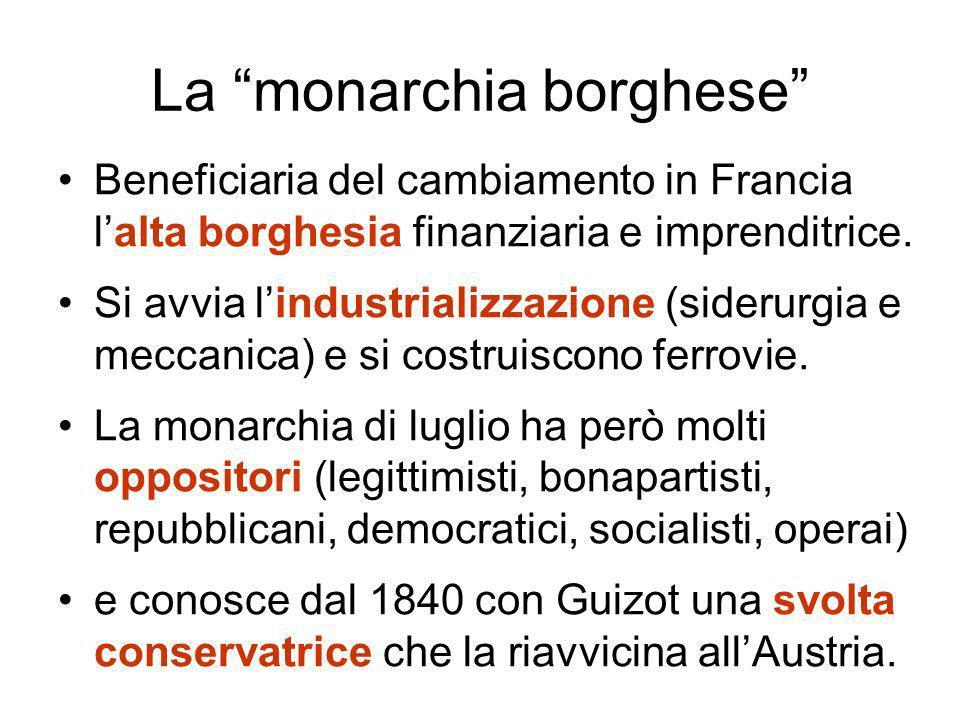 La monarchia borghese