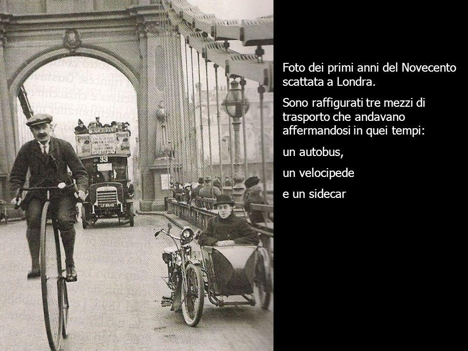 Foto dei primi anni del Novecento scattata a Londra.