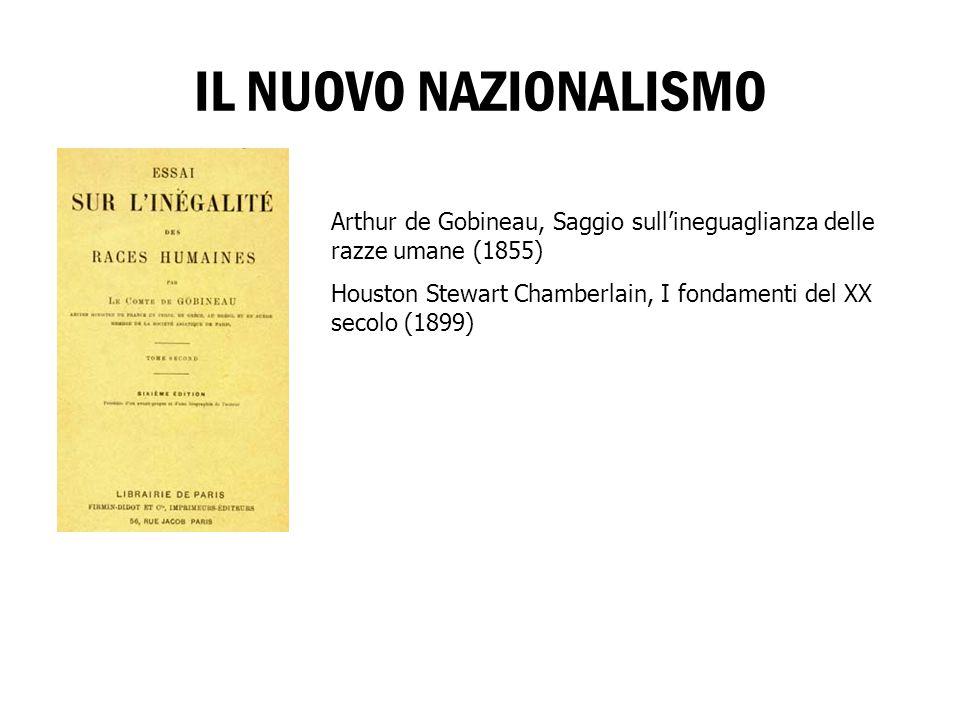 IL NUOVO NAZIONALISMO Arthur de Gobineau, Saggio sull'ineguaglianza delle razze umane (1855)