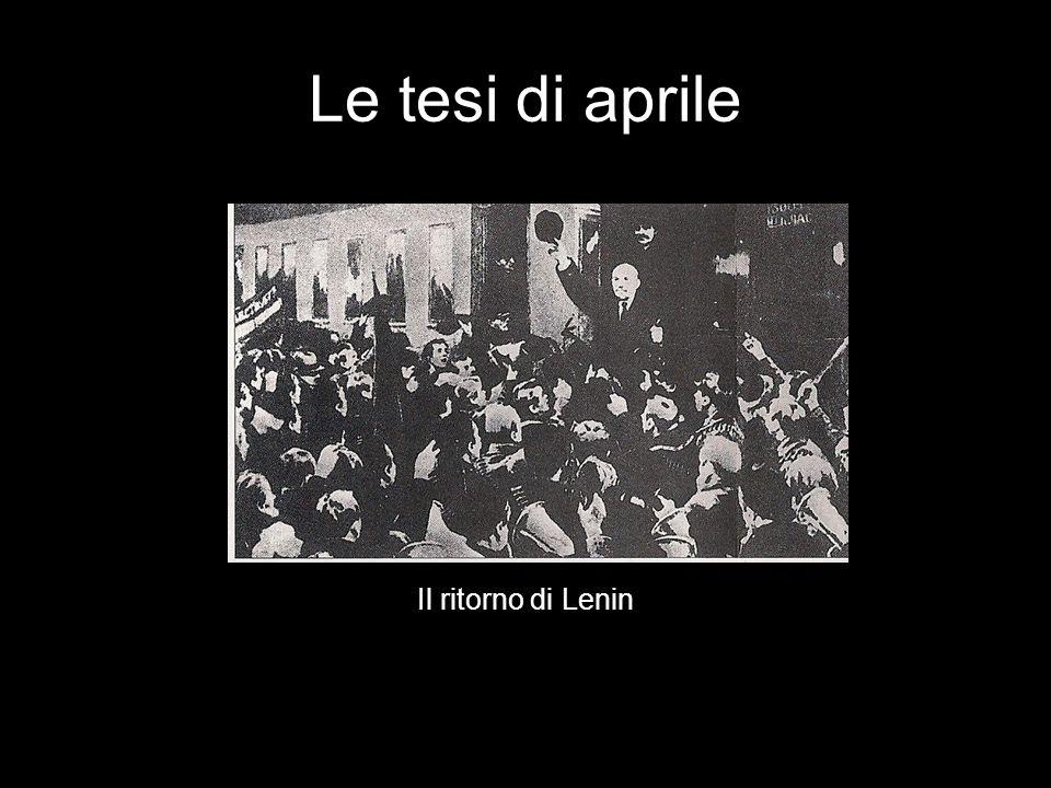 Le tesi di aprile Il ritorno di Lenin