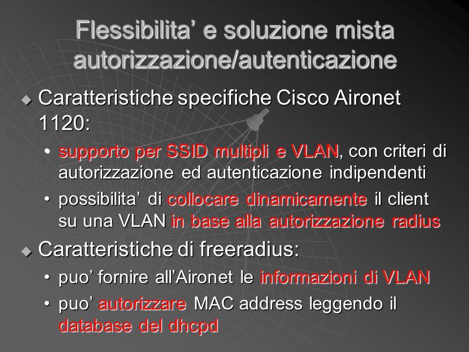 Flessibilita' e soluzione mista autorizzazione/autenticazione