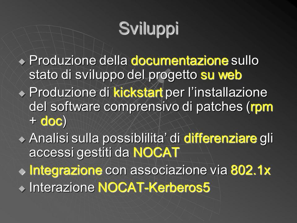 Sviluppi Produzione della documentazione sullo stato di sviluppo del progetto su web.
