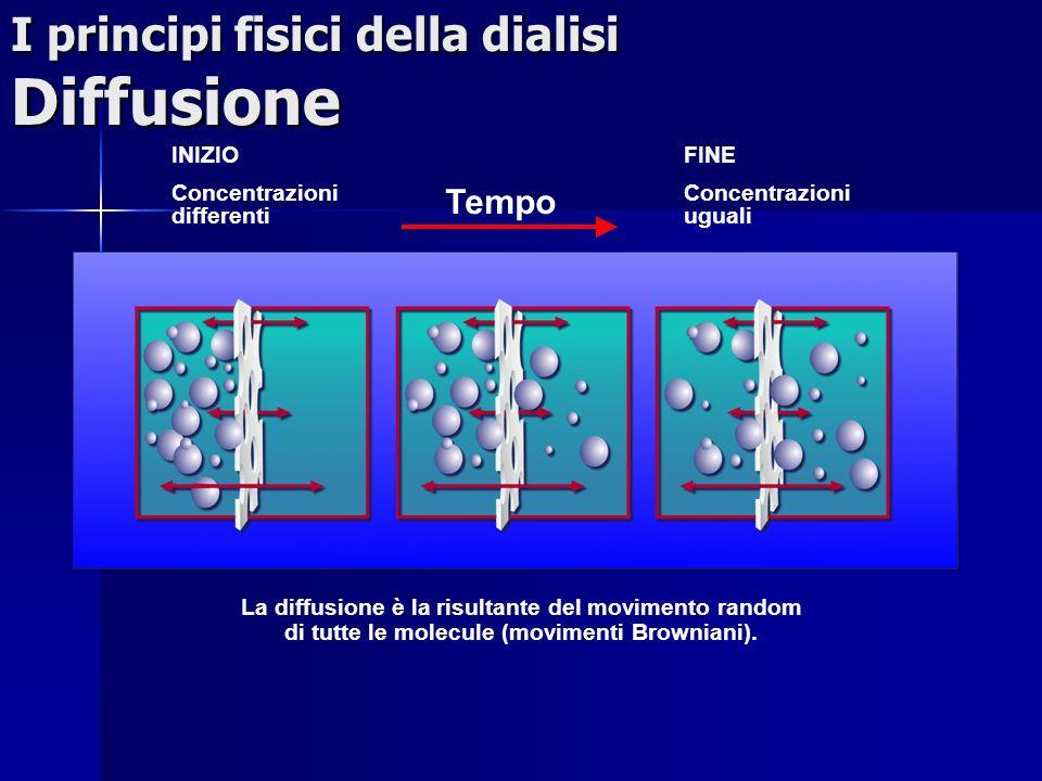 I principi fisici della dialisi Diffusione