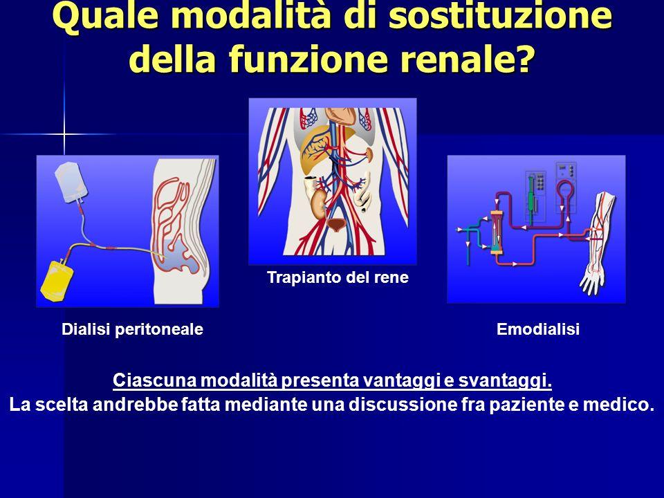 Quale modalità di sostituzione della funzione renale