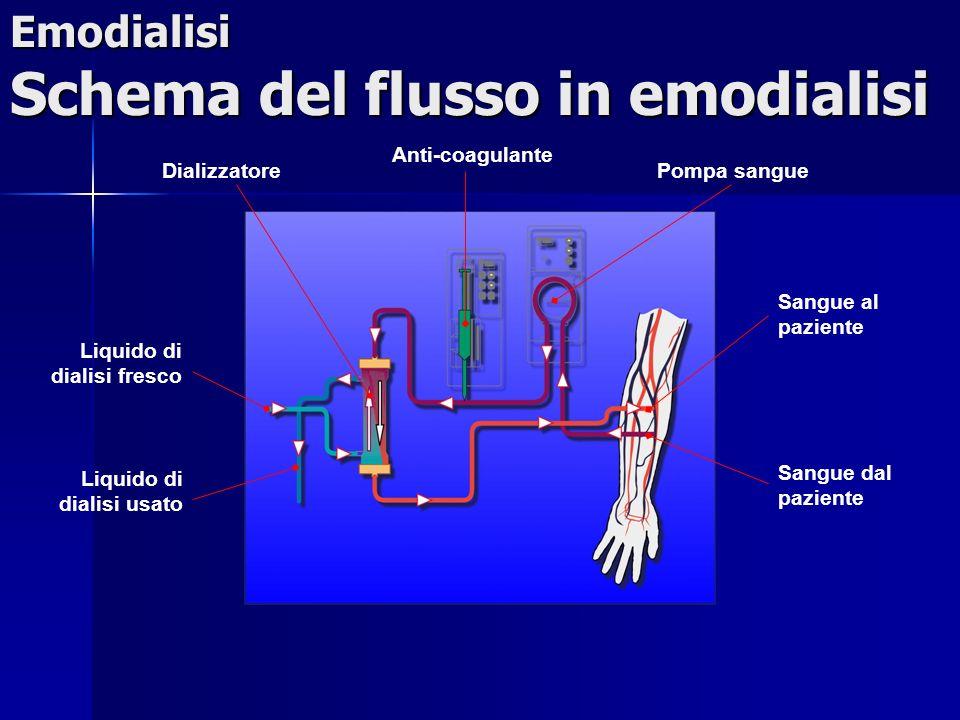 Emodialisi Schema del flusso in emodialisi