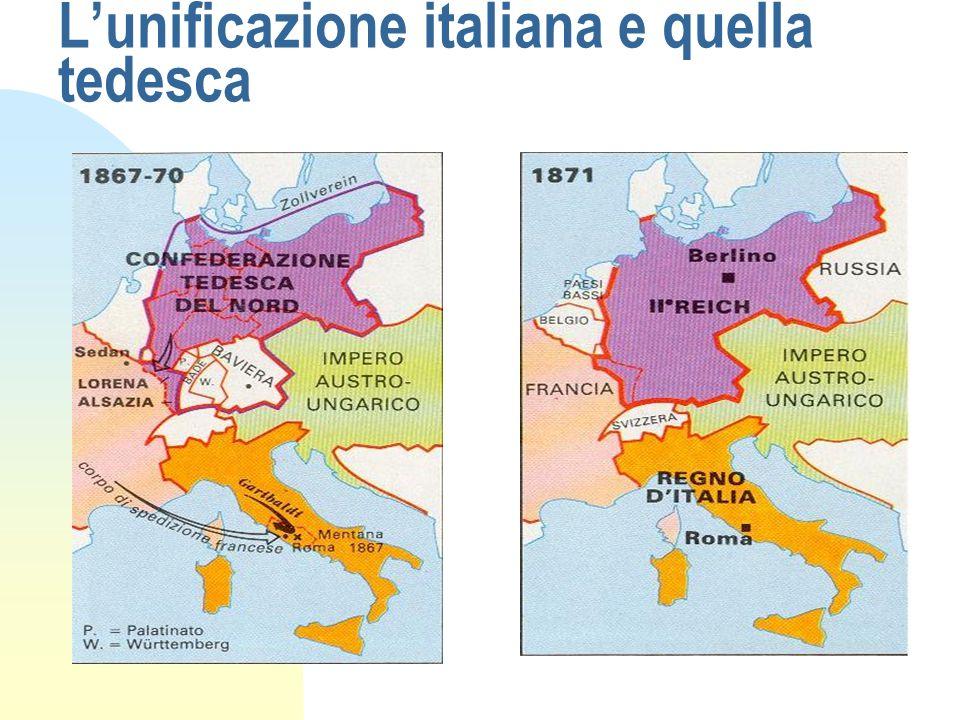 L'unificazione italiana e quella tedesca