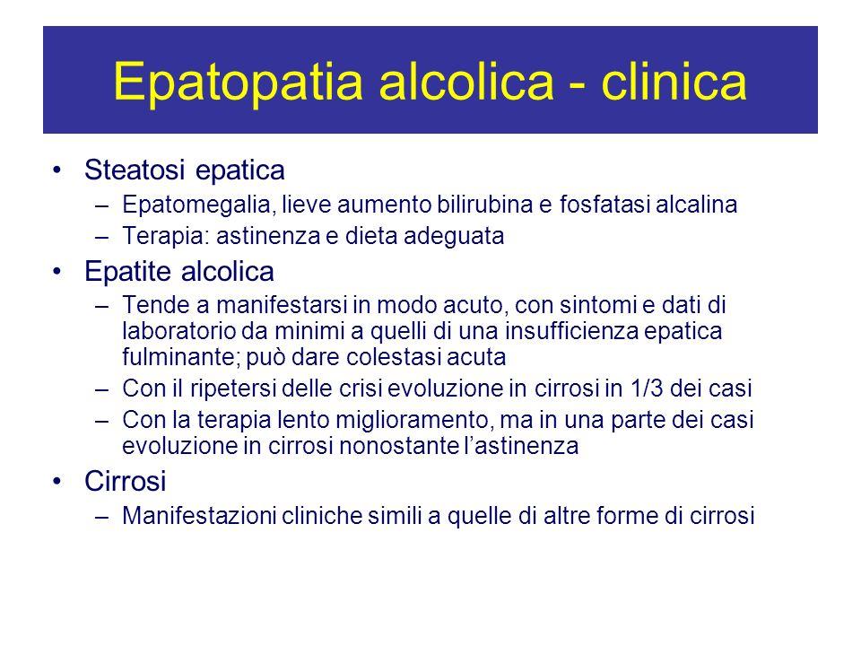 Epatopatia alcolica - clinica