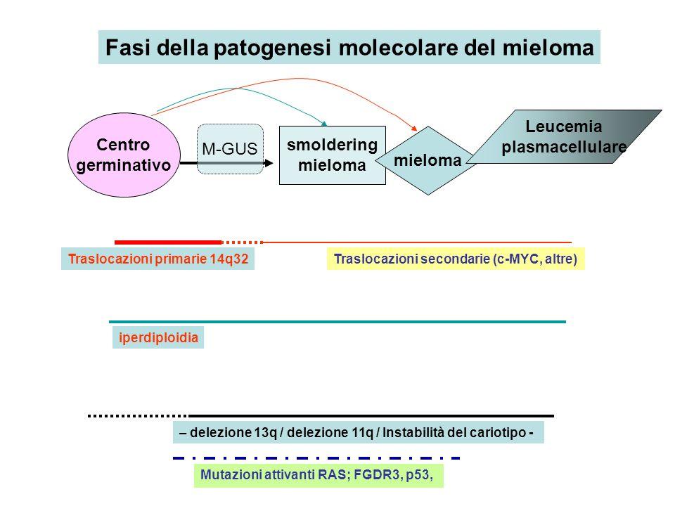 Fasi della patogenesi molecolare del mieloma