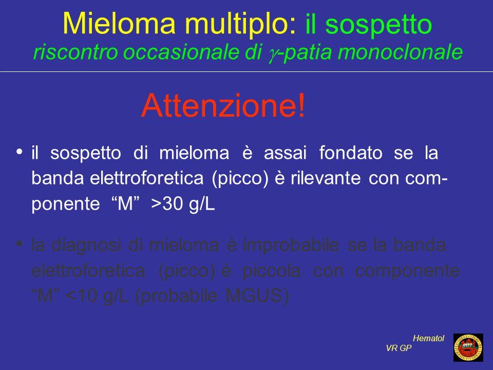 Attenzione! Mieloma multiplo: il sospetto
