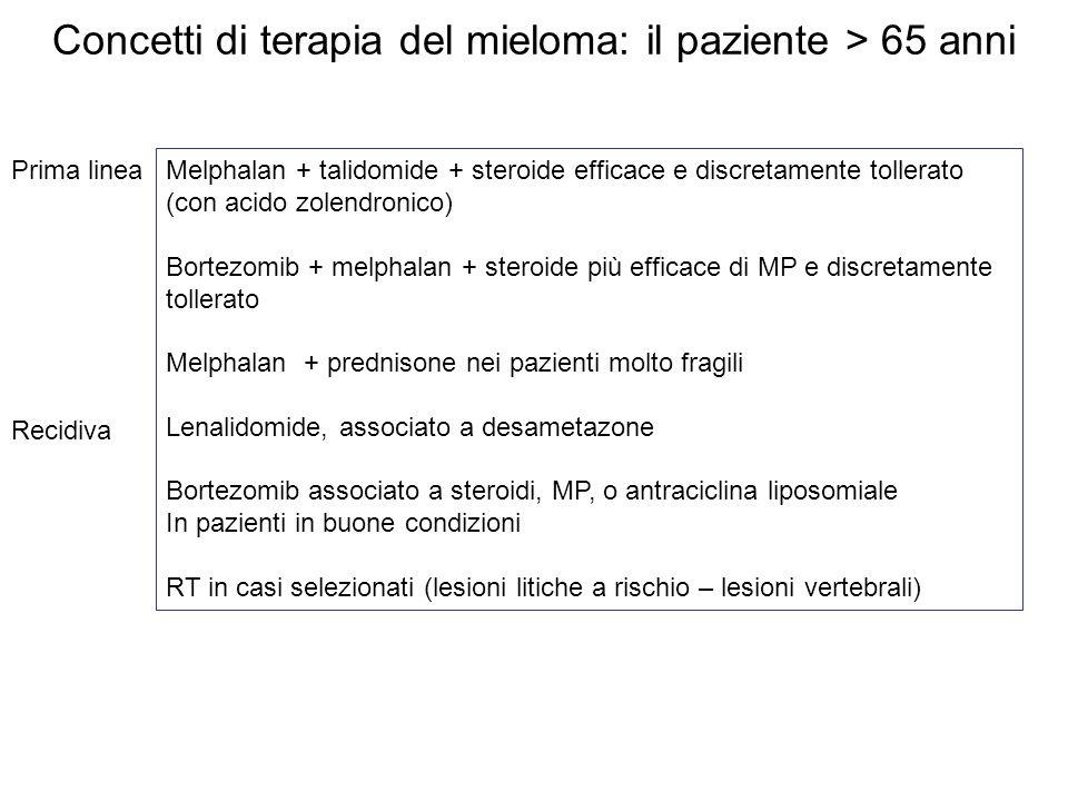 Concetti di terapia del mieloma: il paziente > 65 anni
