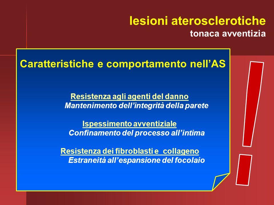 ! lesioni aterosclerotiche Caratteristiche e comportamento nell'AS