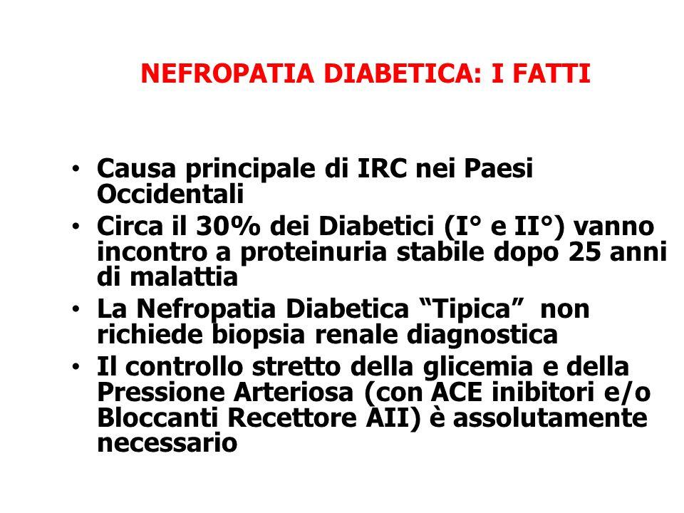 NEFROPATIA DIABETICA: I FATTI