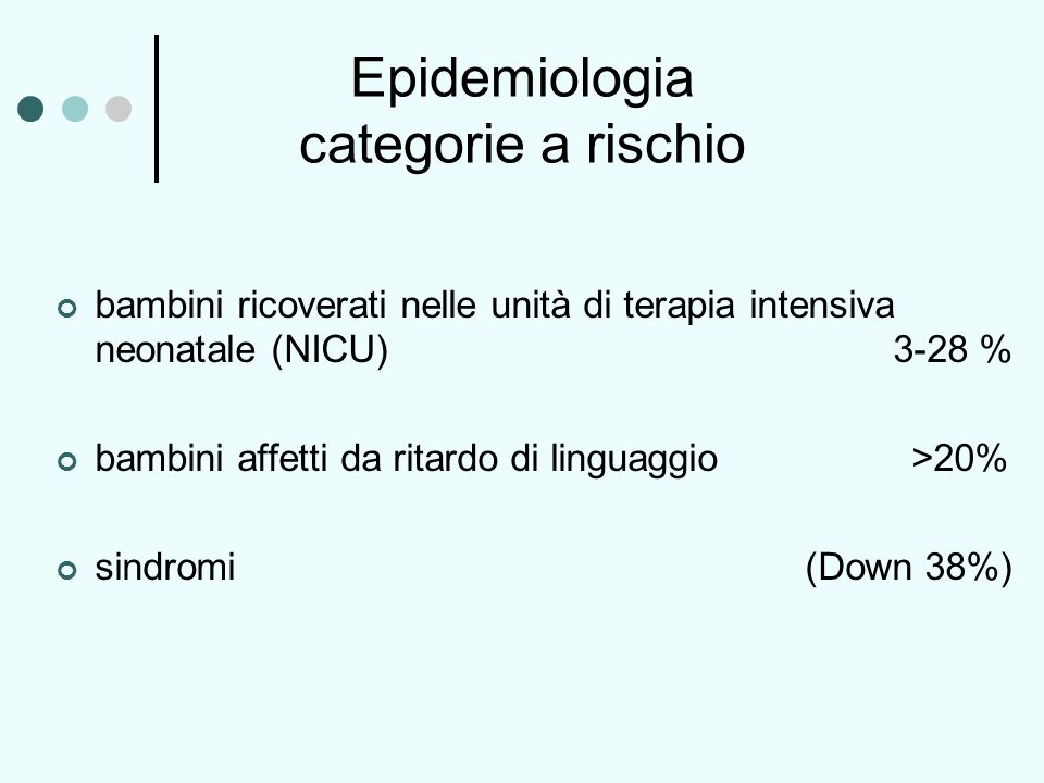 Epidemiologia categorie a rischio