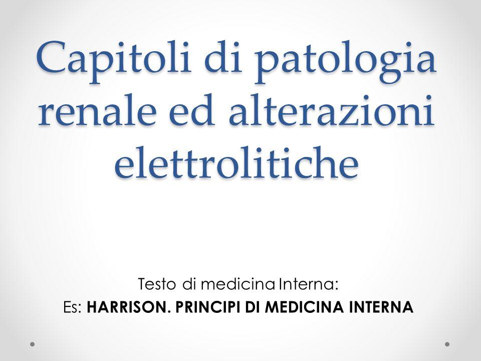 Capitoli di patologia renale ed alterazioni elettrolitiche
