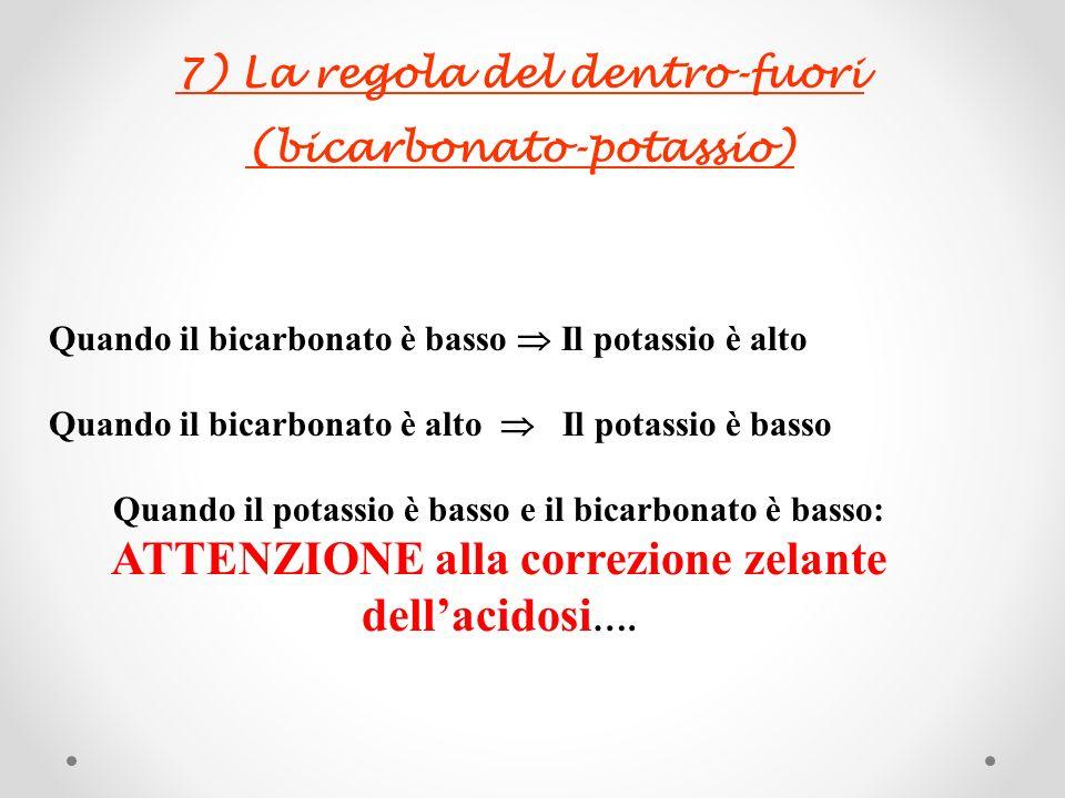 7) La regola del dentro-fuori (bicarbonato-potassio)
