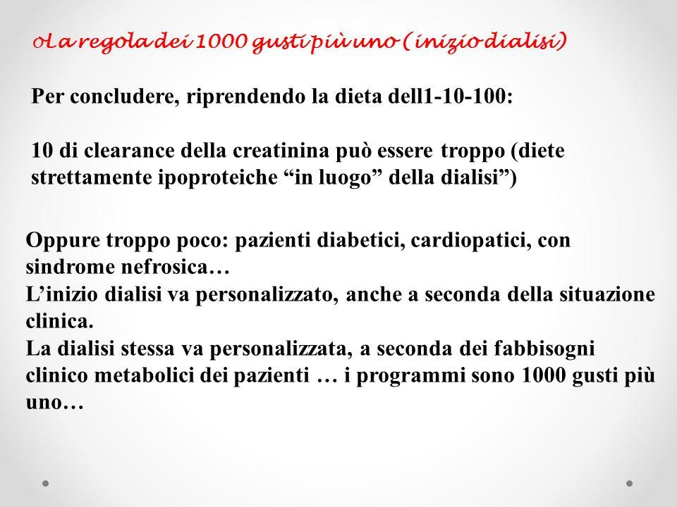 Per concludere, riprendendo la dieta dell1-10-100: