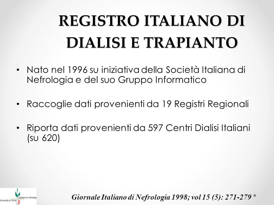 REGISTRO ITALIANO DI DIALISI E TRAPIANTO