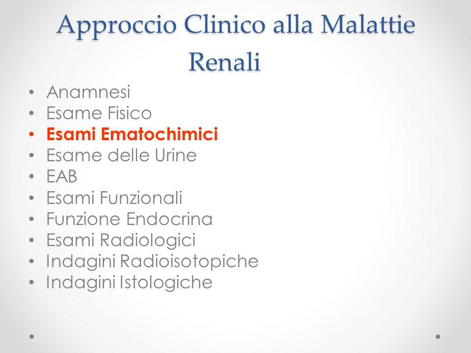 Approccio Clinico alla Malattie Renali