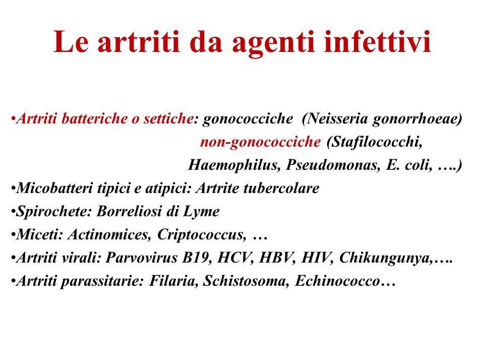 Le artriti da agenti infettivi