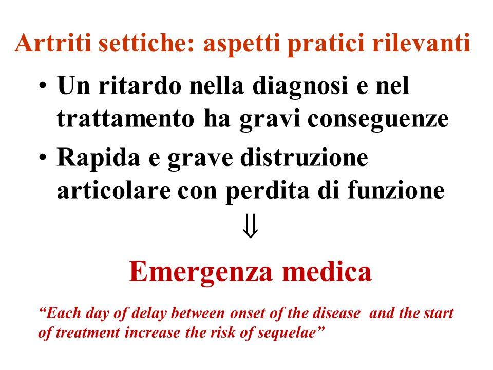 Artriti settiche: aspetti pratici rilevanti