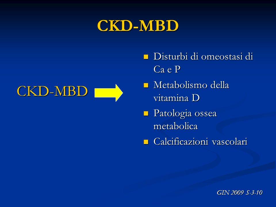 CKD-MBD CKD-MBD Disturbi di omeostasi di Ca e P