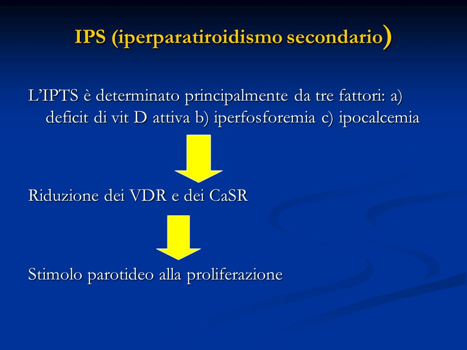 IPS (iperparatiroidismo secondario)