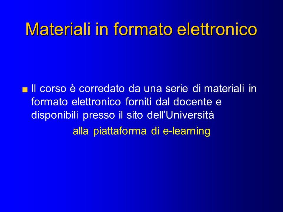Materiali in formato elettronico
