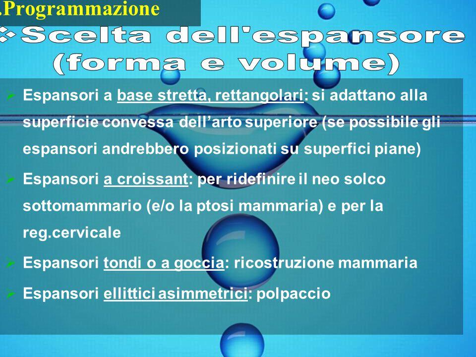 Scelta dell espansore (forma e volume) 1.Programmazione