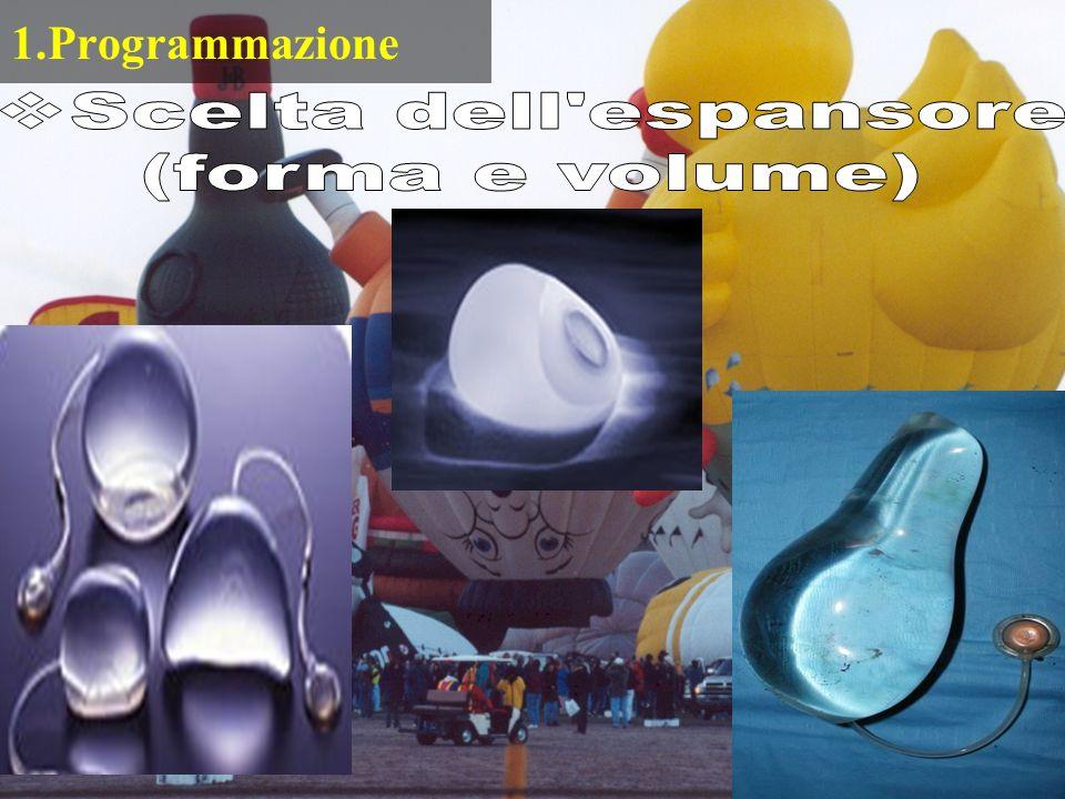 1.Programmazione Scelta dell espansore (forma e volume)