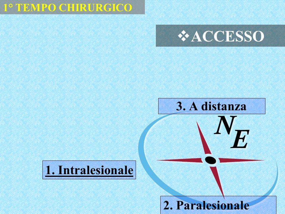 ACCESSO 3. A distanza 1. Intralesionale 2. Paralesionale