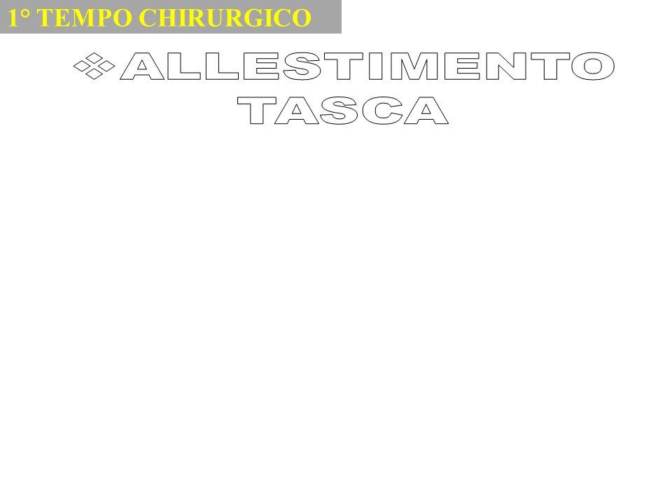 1° TEMPO CHIRURGICO ALLESTIMENTO TASCA