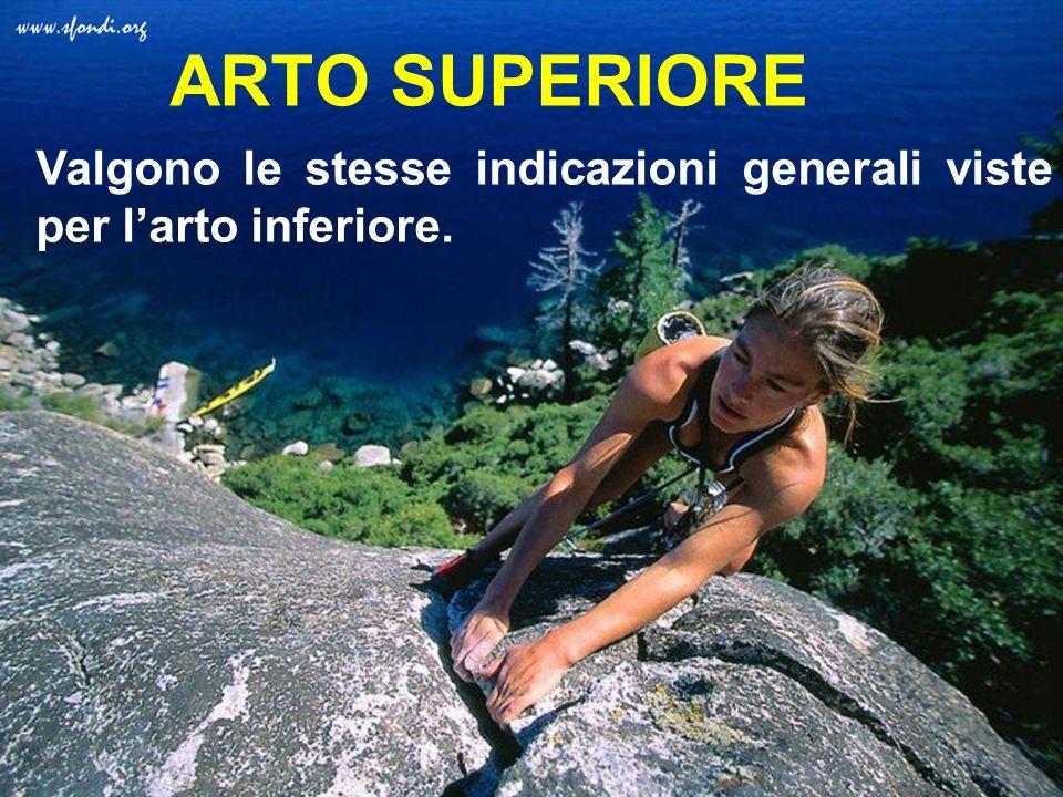 ARTO SUPERIORE Valgono le stesse indicazioni generali viste per l'arto inferiore.