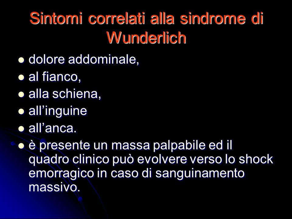 Sintomi correlati alla sindrome di Wunderlich