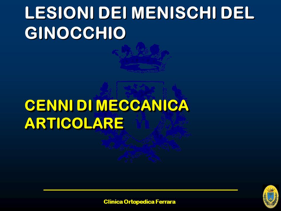 LESIONI DEI MENISCHI DEL GINOCCHIO
