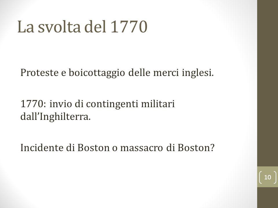La svolta del 1770